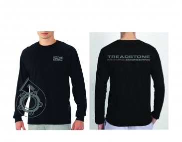 Treadstone T-Shirt Turbine Housing CAD Long Sleeve - Black / Gray