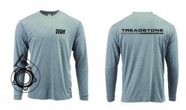 Treadstone T-Shirt Turbine Housing CAD Long Sleeve - Gray / Black