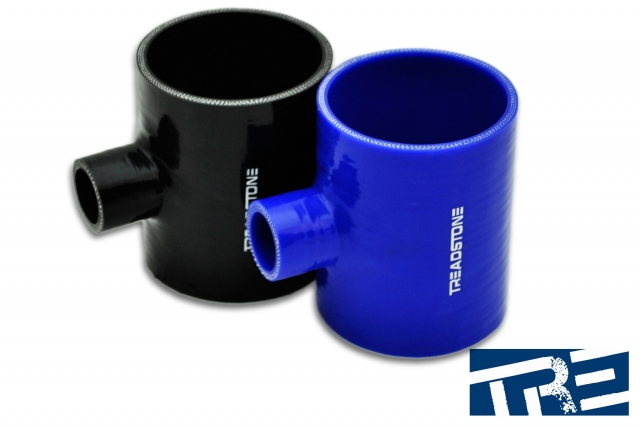 """Silicone Hose Couplers T Adapter 3"""" - 1"""" Spout"""