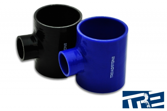 """Silicone Hose Couplers T Adapter 3"""" - 1.375"""" Spout"""