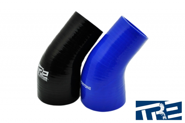 "45 Degree Silicone Hose Reducers 3"" to 4"" 45 degree"