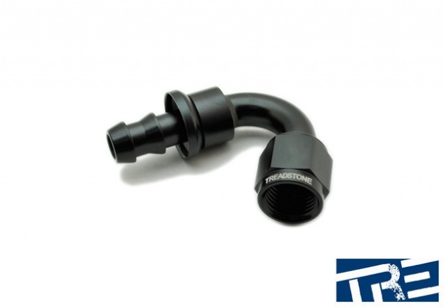 4AN Push-On Hose End - 120 Degree