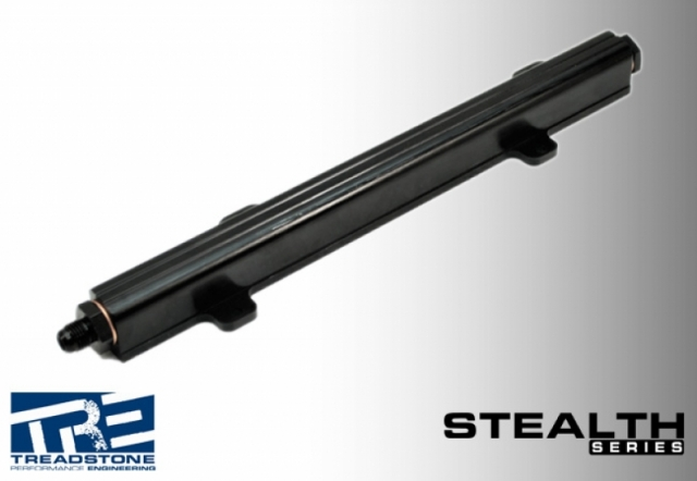 Stealth Edition Aluminum Fuel Rail for QR25 and Nissan Spec-V