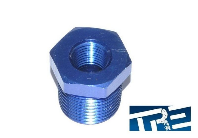 "Oil Feed Adapter Fitting, 3/8"" NPT Male to 1/8"" NPT Female"