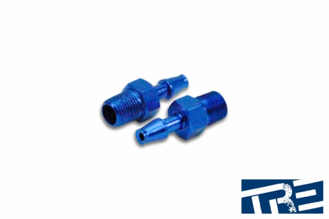 "1/8"" NPT Fitting for 3/16"" Barb Vacuum Block - Blue"
