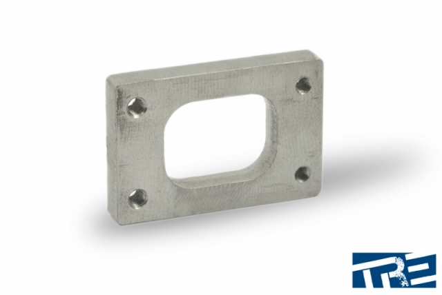 """T25 Stainless Turbo Inlet Flange 1/2"""" Thick & Tapped"""