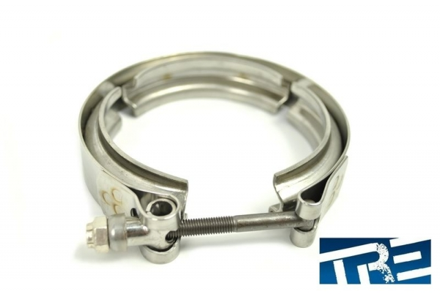 T4 V Band Downpipe Clamp, Precision, Turbonetics, Garrett