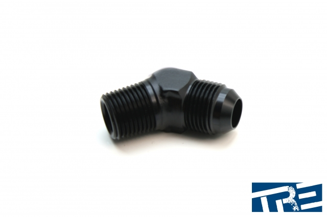 """10AN to 1/2"""" NPT 45 Degree Adapter"""