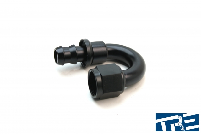 8AN 180 Degree Push-On Hose End