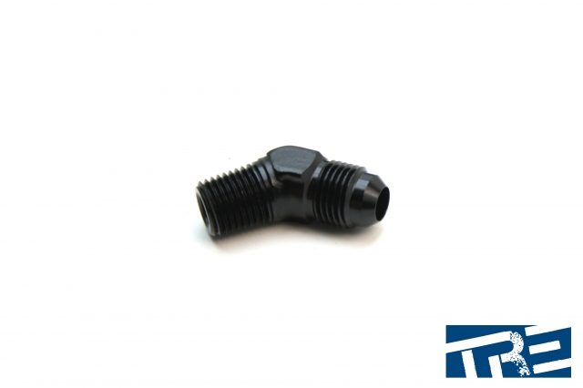 """6AN to 1/4"""" NPT 45 Degree Adapter"""