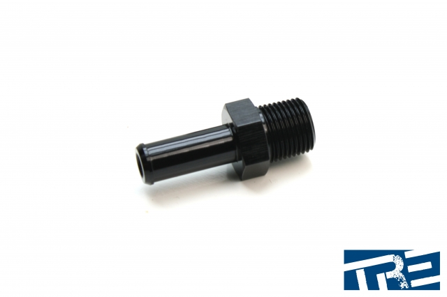 """3/8 NPT to 1/2""""  Barb Straight Fitting"""
