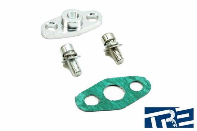 "GT Series Turbo Oil Feed Inlet Flange - 1/8"" NPT"