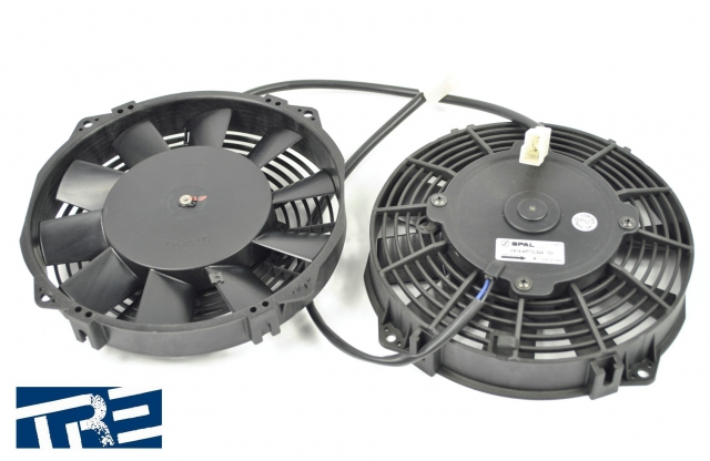 "G35 Turbo Kit, Spal 8"" Intercooler Fans"