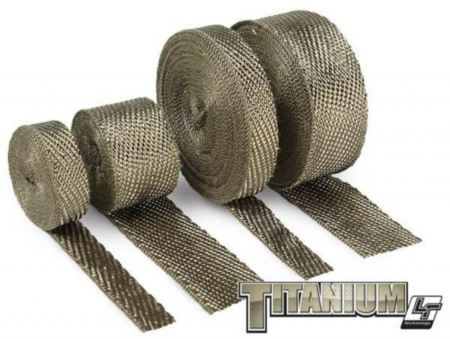 "2"" x 15ft DEI Titanium Exhaust Heat Wrap"