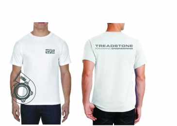 Treadstone T-Shirt Turbine Housing CAD - White / Gray